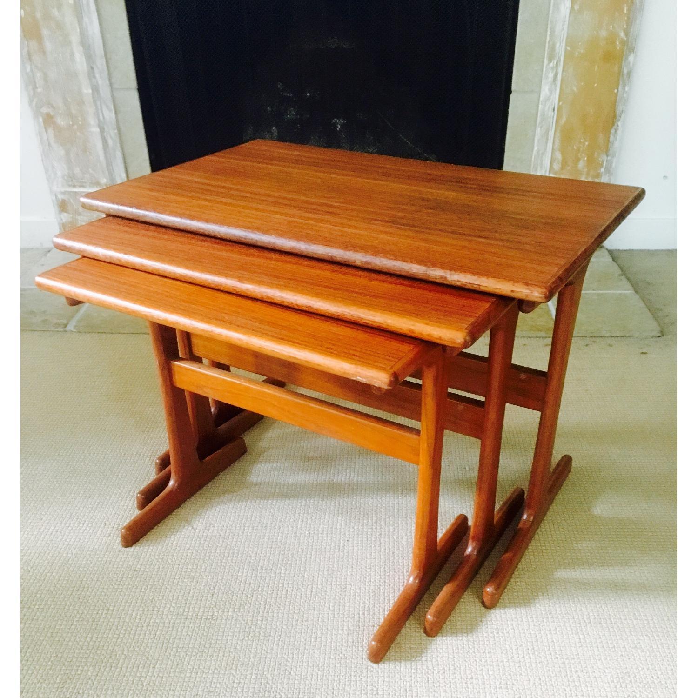 Mid Century Modern Teak Nesting Tables - image-2