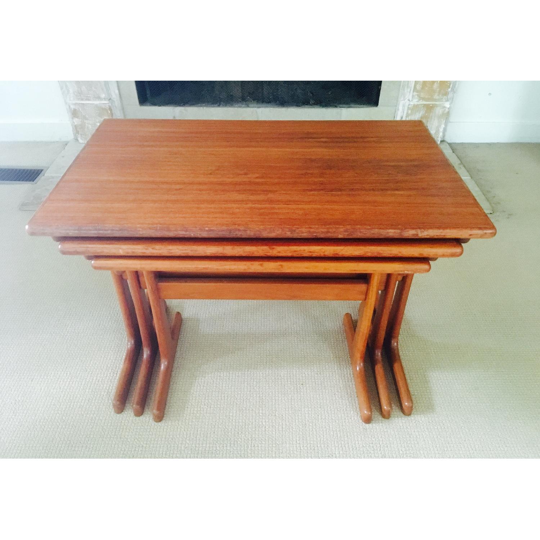 Mid Century Modern Teak Nesting Tables - image-3