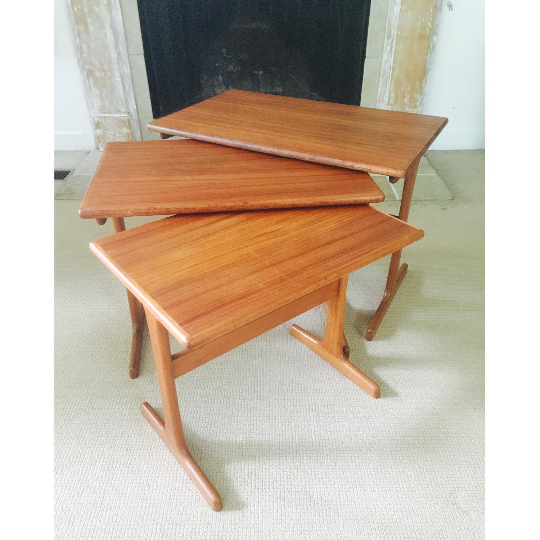 Mid Century Modern Teak Nesting Tables - image-5