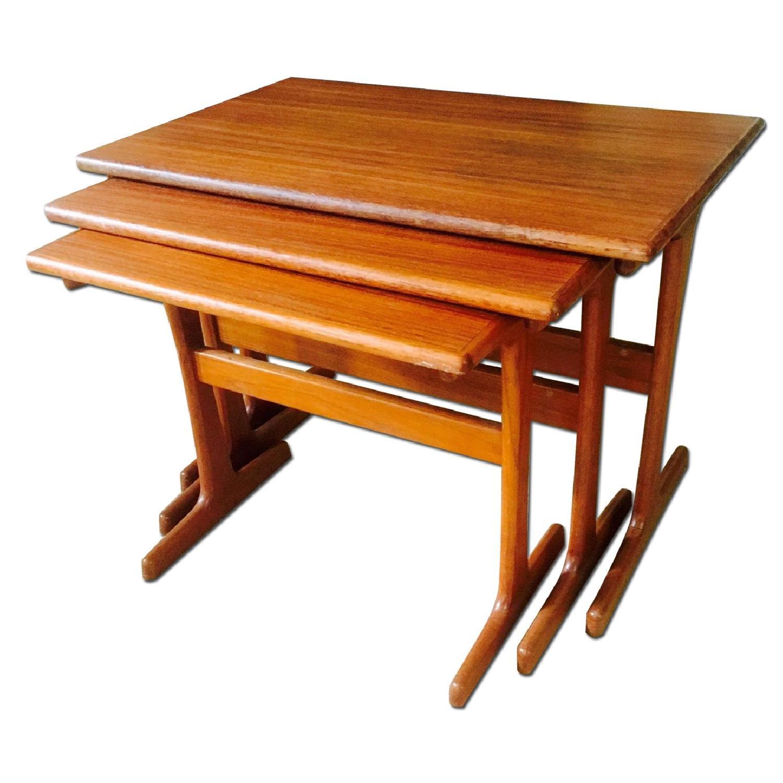 Mid Century Modern Teak Nesting Tables - image-0