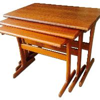 Mid Century Modern Teak Nesting Tables