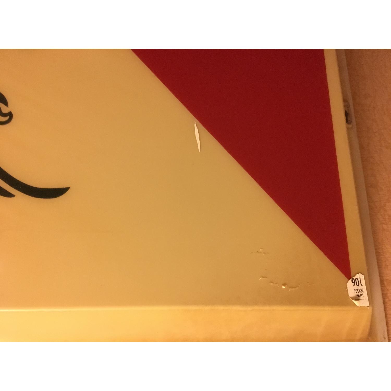 Large Vintage Budweiser Advertising Sign - image-2