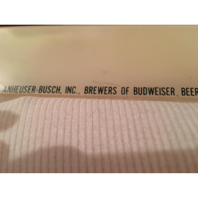 Large Vintage Budweiser Advertising Sign - image-9