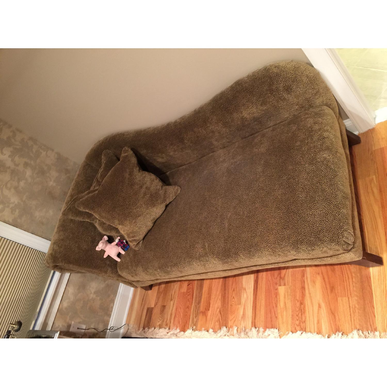 Tan & Black Chaise Lounge - image-1