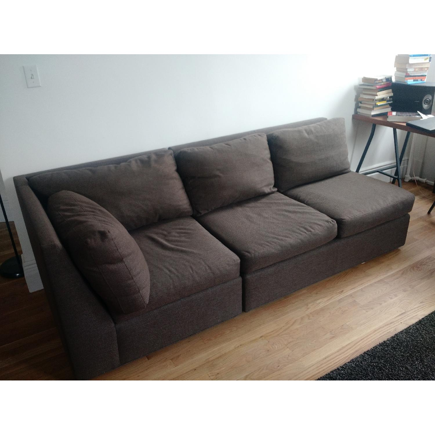 Crate & Barrel City Two-Piece Sectional - image-1