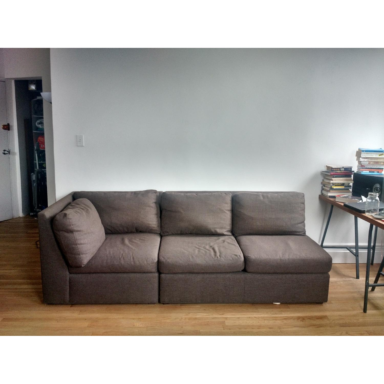 Crate & Barrel City Two-Piece Sectional - image-5
