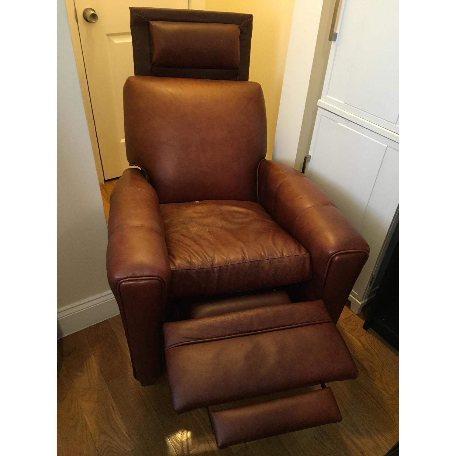 Brown Barcalounger Leather Arm Chair - image-2