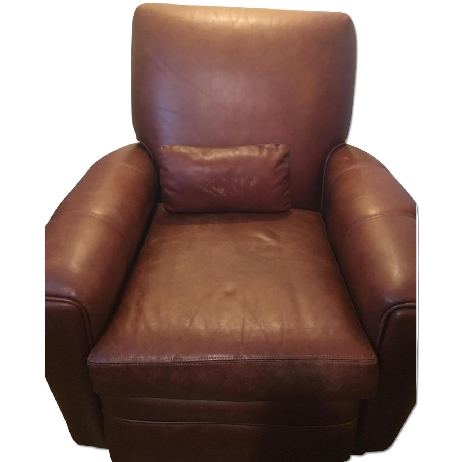 Brown Barcalounger Leather Arm Chair - image-0