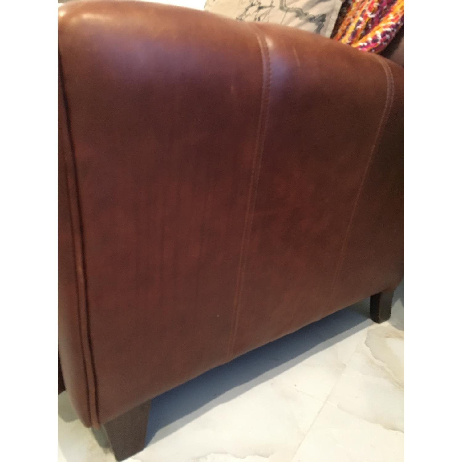 Brown Barcalounger Leather Arm Chair - image-8