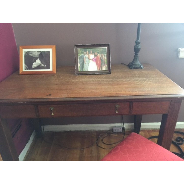 Antique Large Desk - image-3