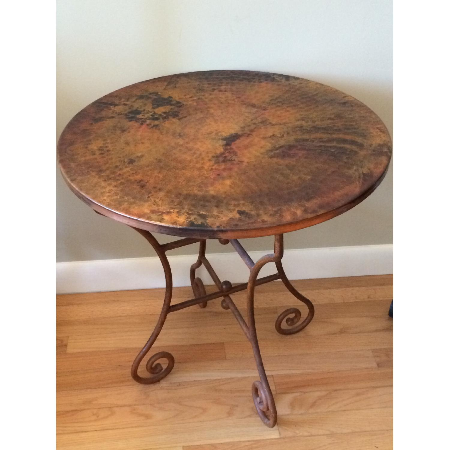 Hammered Copper Top End Tables - image-1
