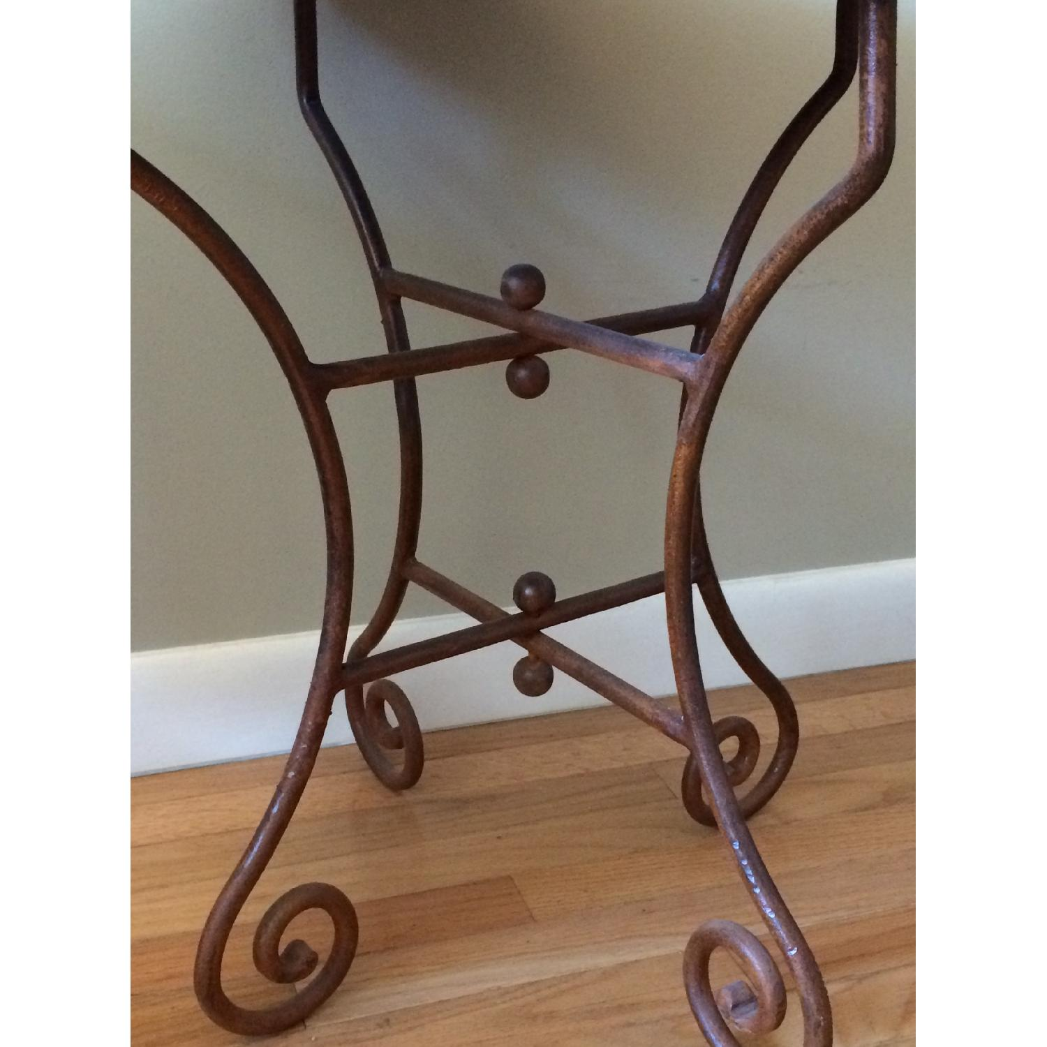 Hammered Copper Top End Tables - image-2