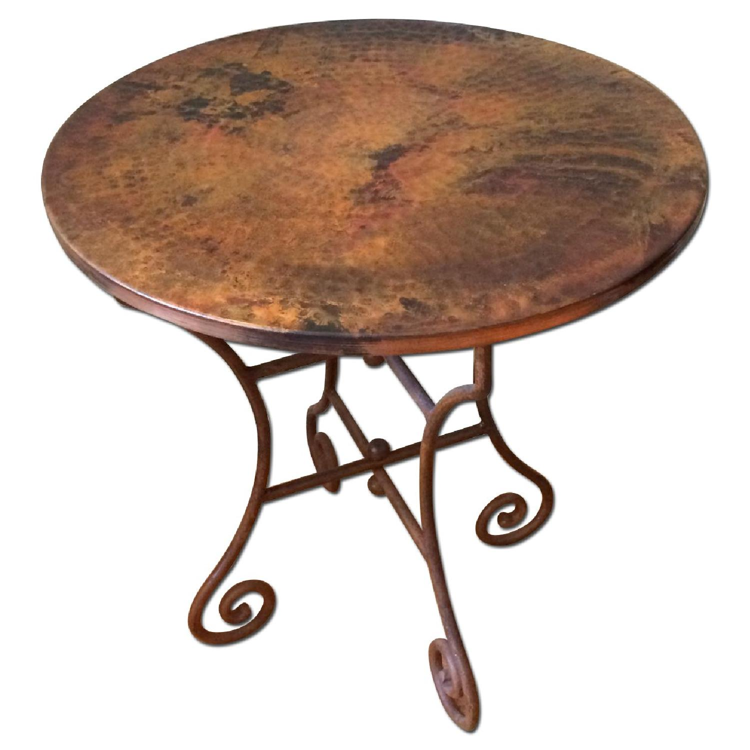 Hammered Copper Top End Tables - image-0