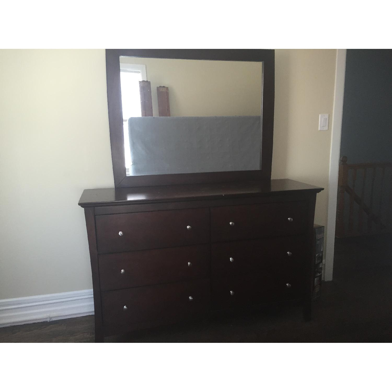 Bob's Wood Dresser w/ Detachable Mirror - image-1