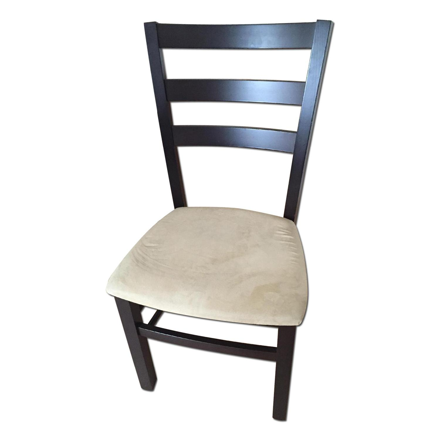 Macy's Wood & Tan Suede Dining Chairs - image-0