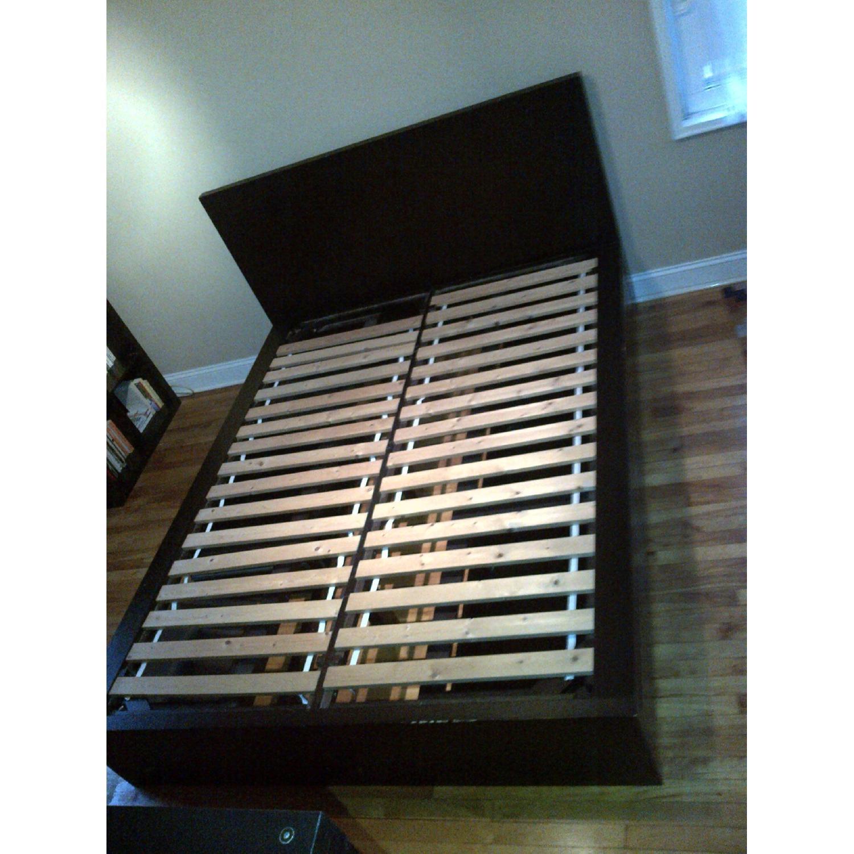 West Elm Wood Full/ Queen Platform Storage Bed w/ Headboard & 4-Drawers - image-1