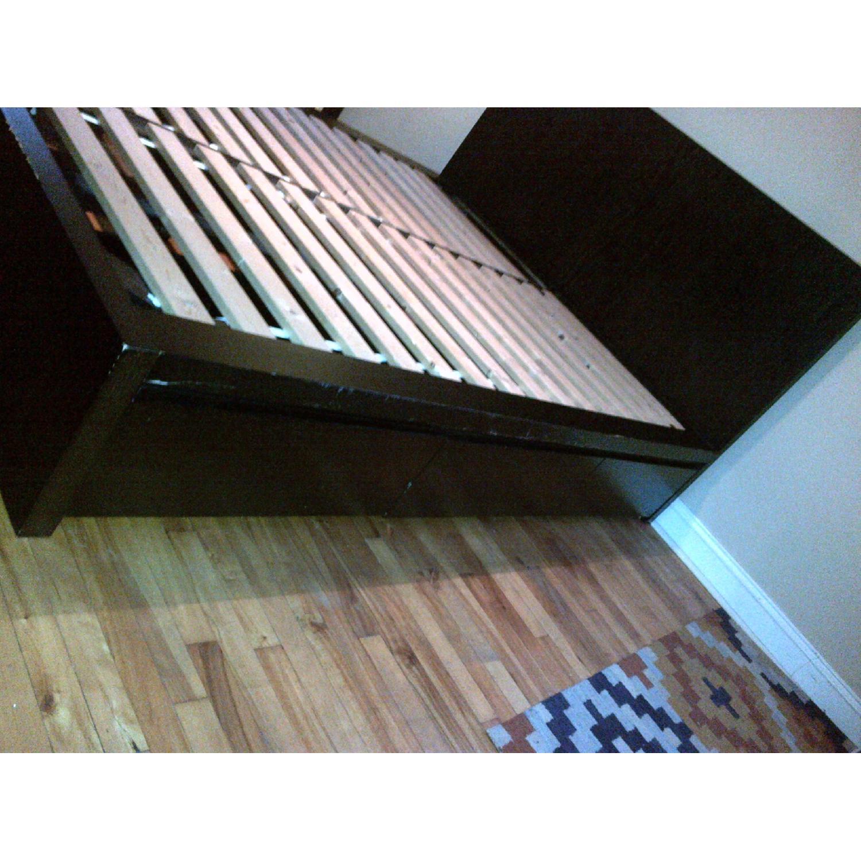 West Elm Wood Full/ Queen Platform Storage Bed w/ Headboard & 4-Drawers - image-2