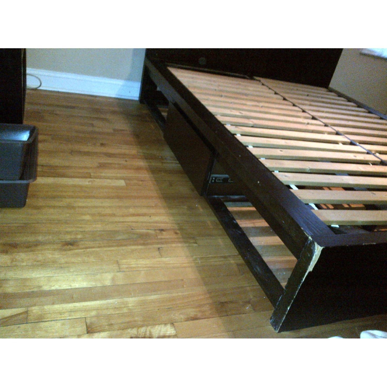 West Elm Wood Full/ Queen Platform Storage Bed w/ Headboard & 4-Drawers - image-3