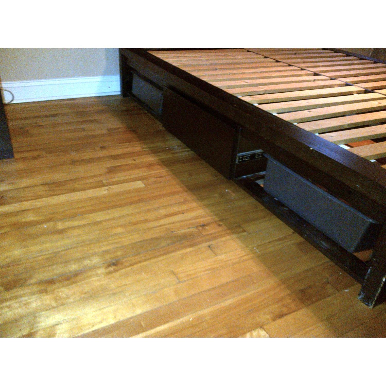 West Elm Wood Full/ Queen Platform Storage Bed w/ Headboard & 4-Drawers - image-5