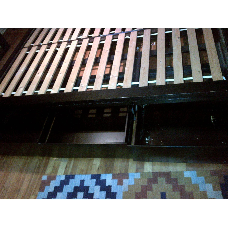 West Elm Wood Full/ Queen Platform Storage Bed w/ Headboard & 4-Drawers - image-6