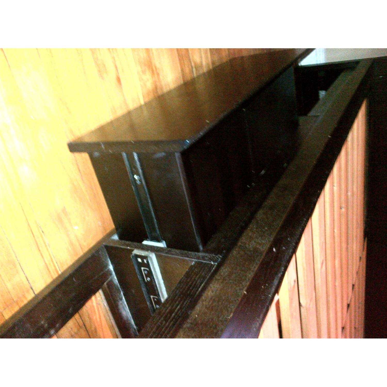 West Elm Wood Full/ Queen Platform Storage Bed w/ Headboard & 4-Drawers - image-7
