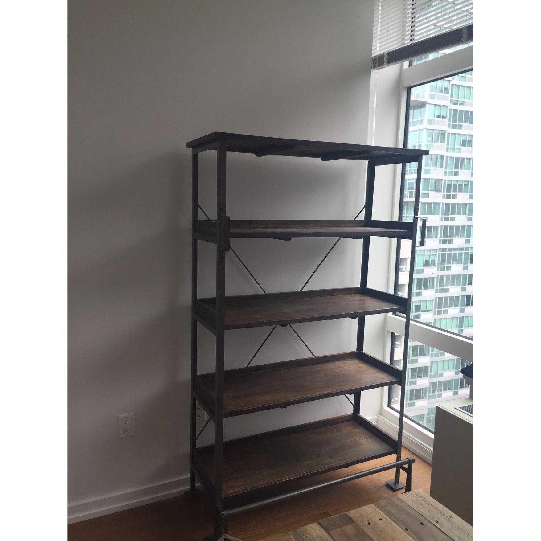 World Market Wood/Metal Bookcase - image-2