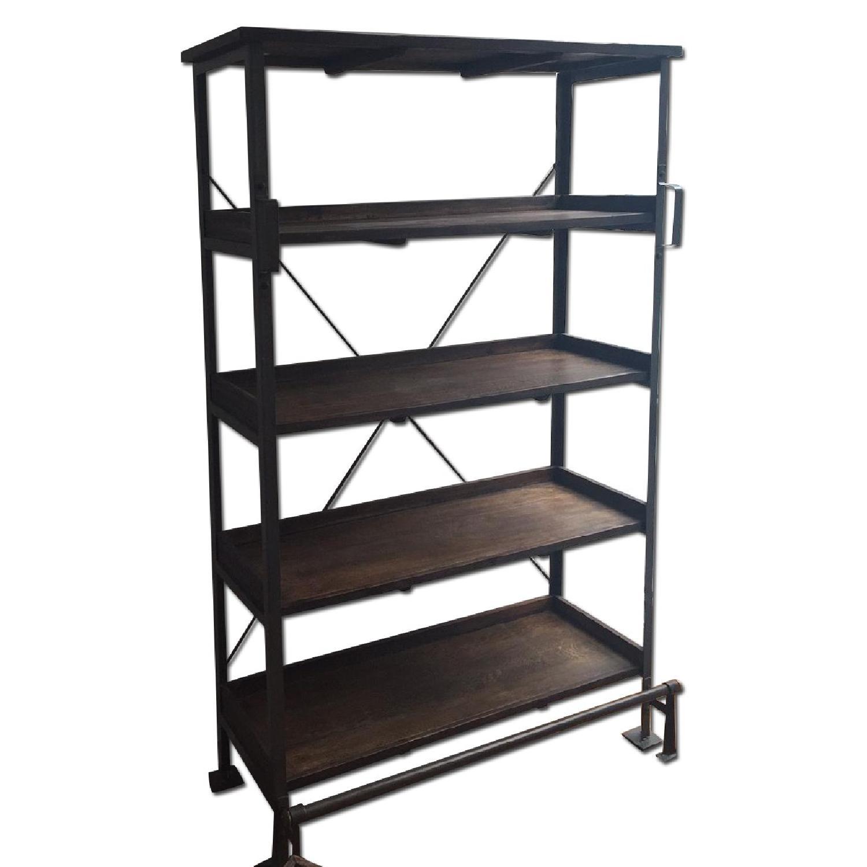 World Market Wood/Metal Bookcase - image-0