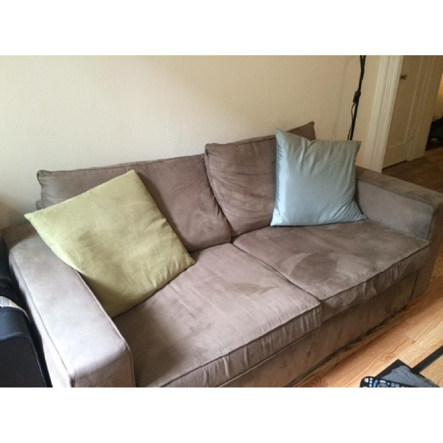 Custom Grey Suede Couch - image-2