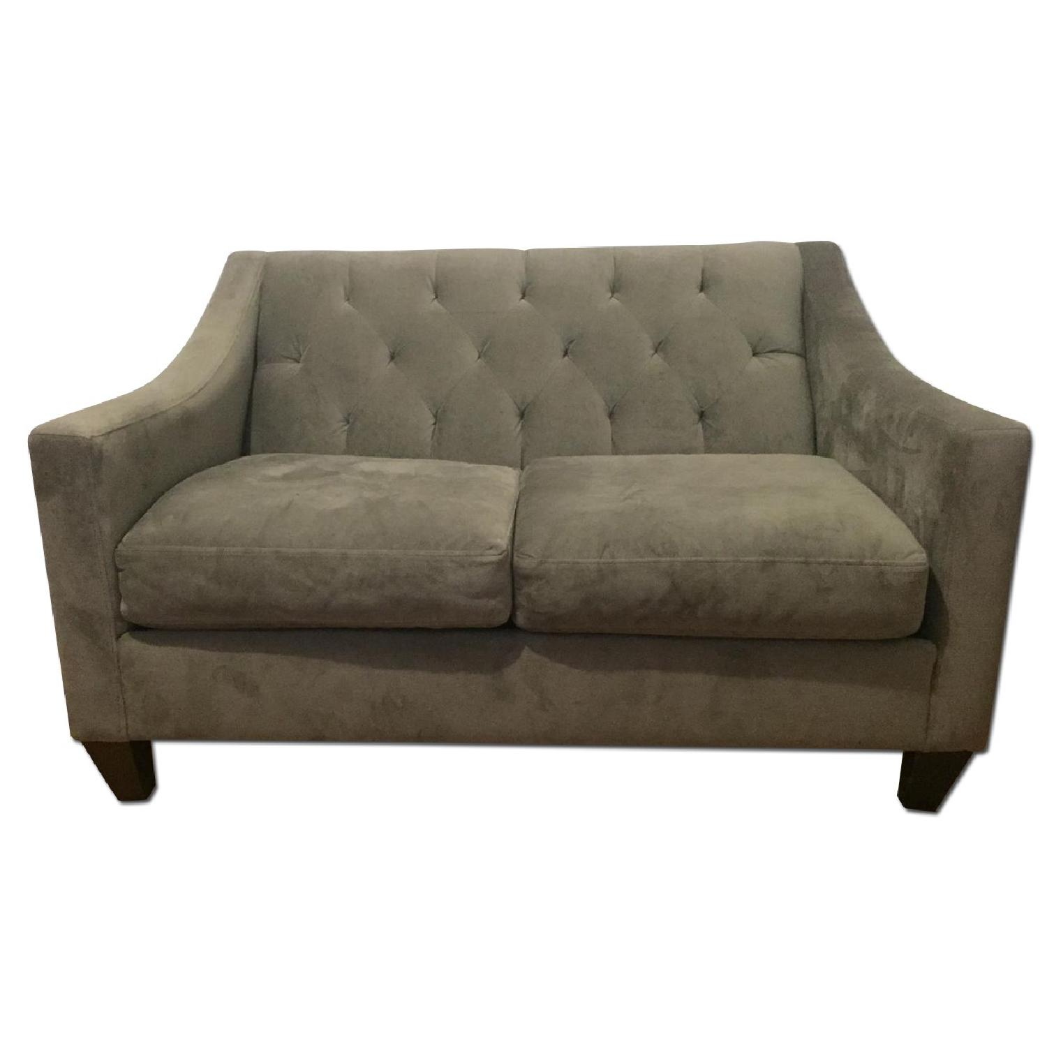 Macy's Max Home Furniture Grey Loveseat + Matching Armchair - image-0