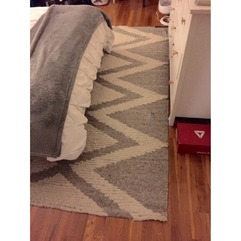 West Elm Finn Wool Rug in Heather Gray - image-3