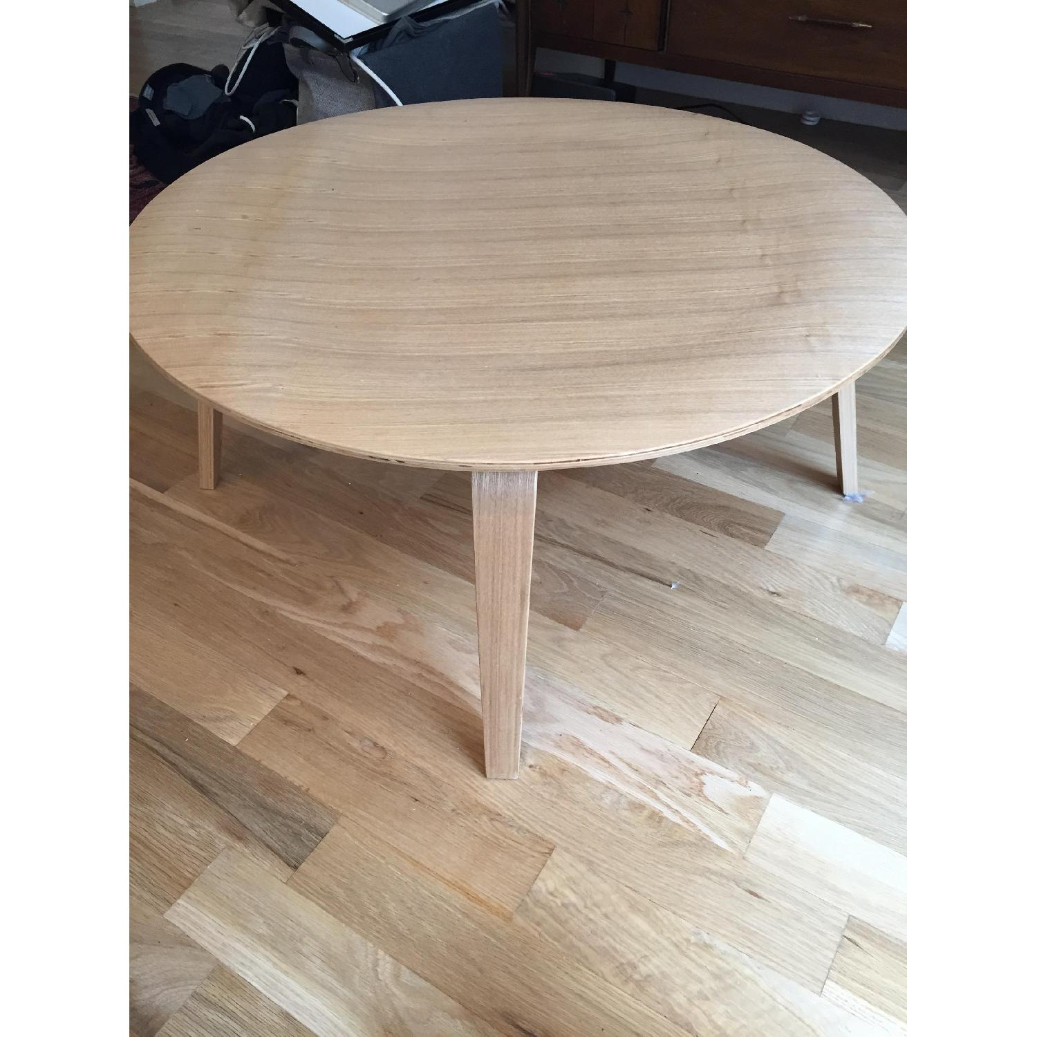 LexMod Wooden Round Coffee Table - image-1