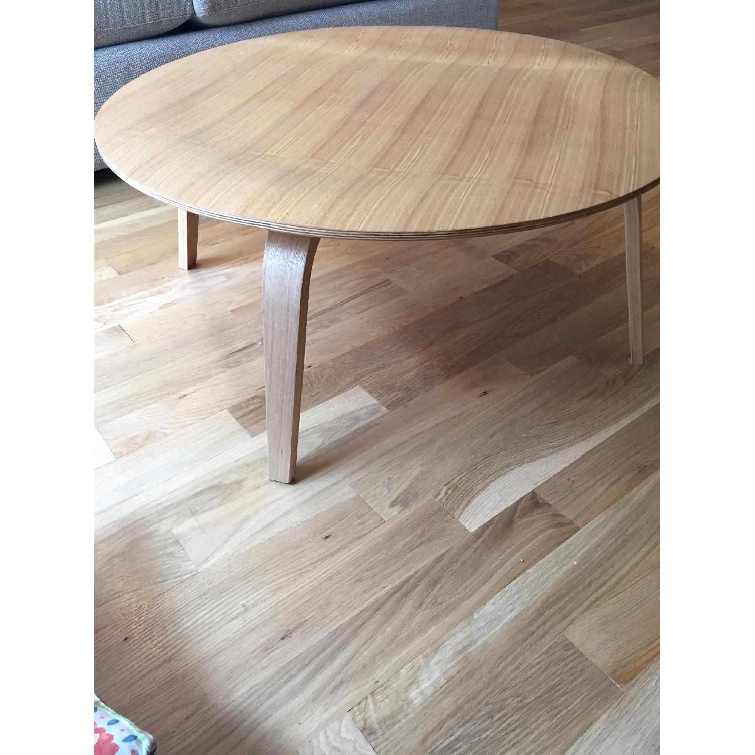 LexMod Wooden Round Coffee Table - image-2
