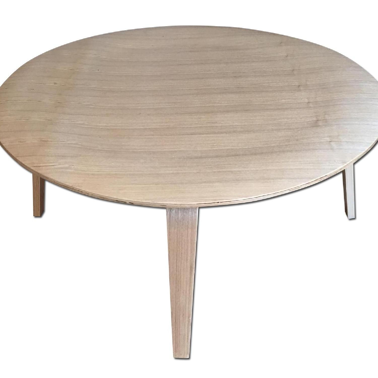 LexMod Wooden Round Coffee Table - image-0