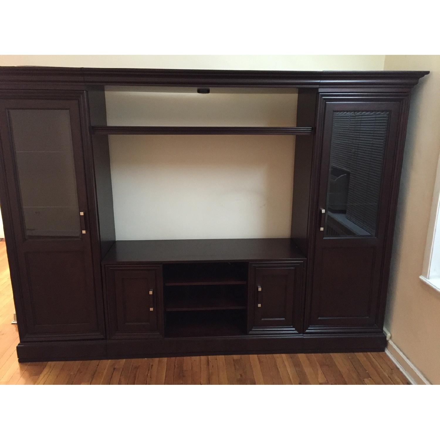 Macy's Pine Solid Entertainment Center - image-1