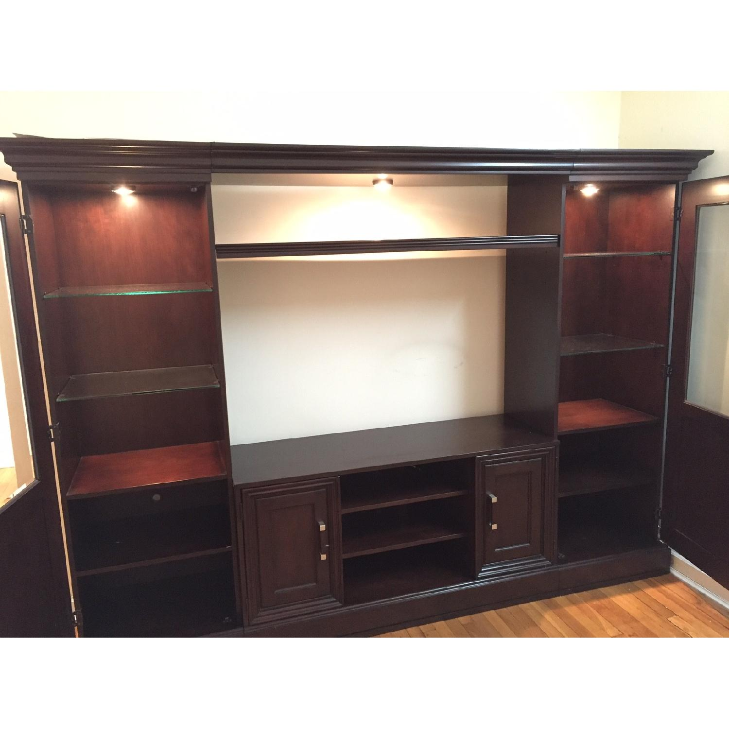 Macy's Pine Solid Entertainment Center - image-3