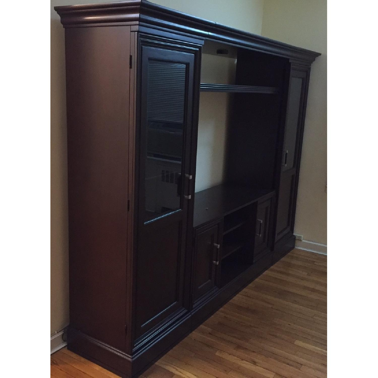 Macy's Pine Solid Entertainment Center - image-4