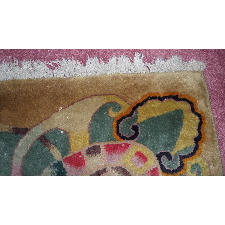 1930's Chinese Art Deco Wool Nichols Carpet - image-2
