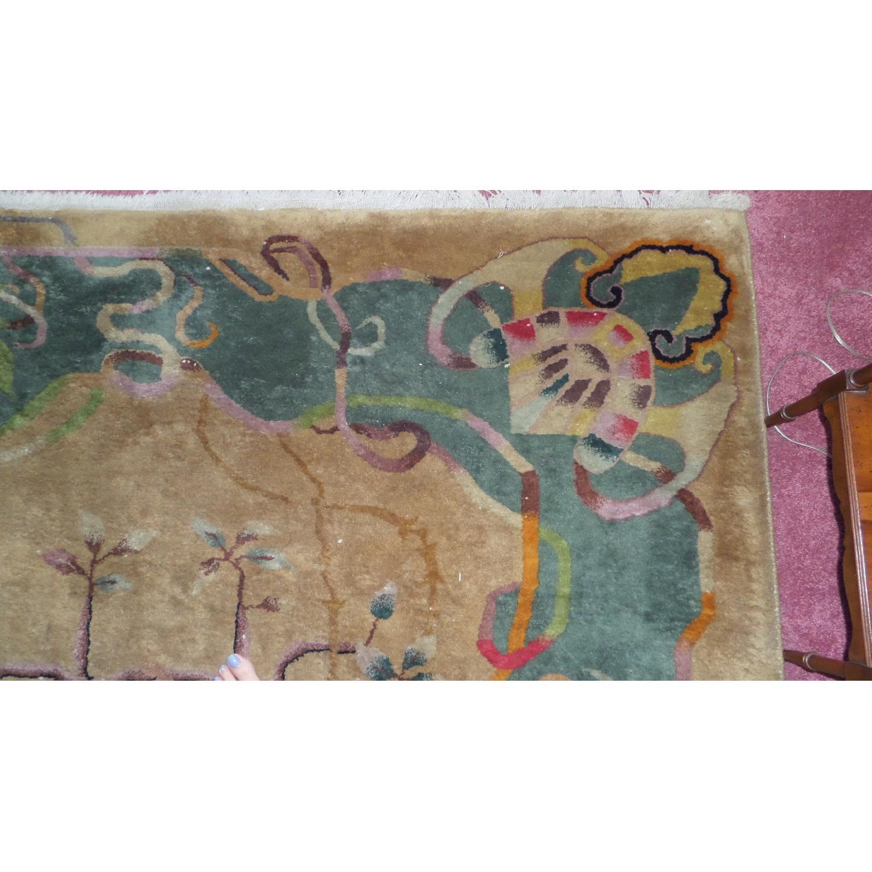1930's Chinese Art Deco Wool Nichols Carpet - image-3