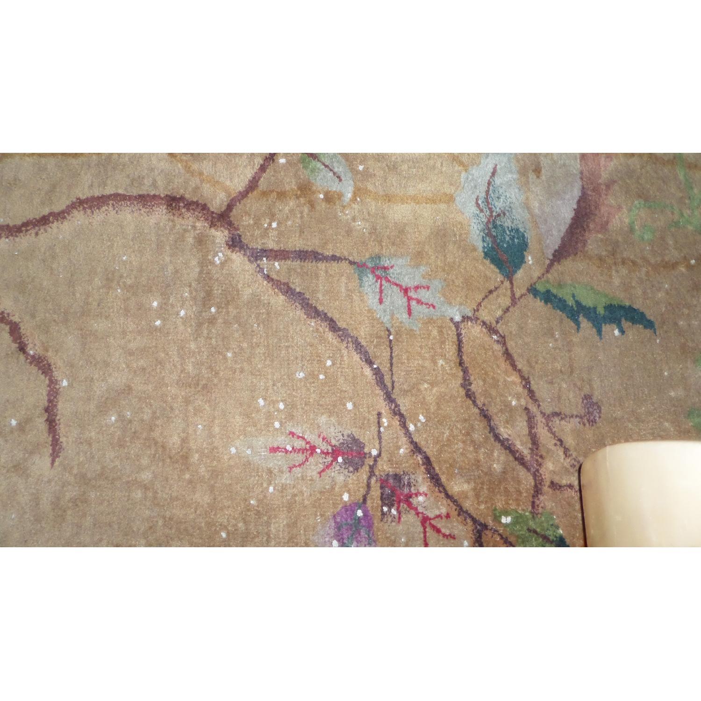 1930's Chinese Art Deco Wool Nichols Carpet - image-4