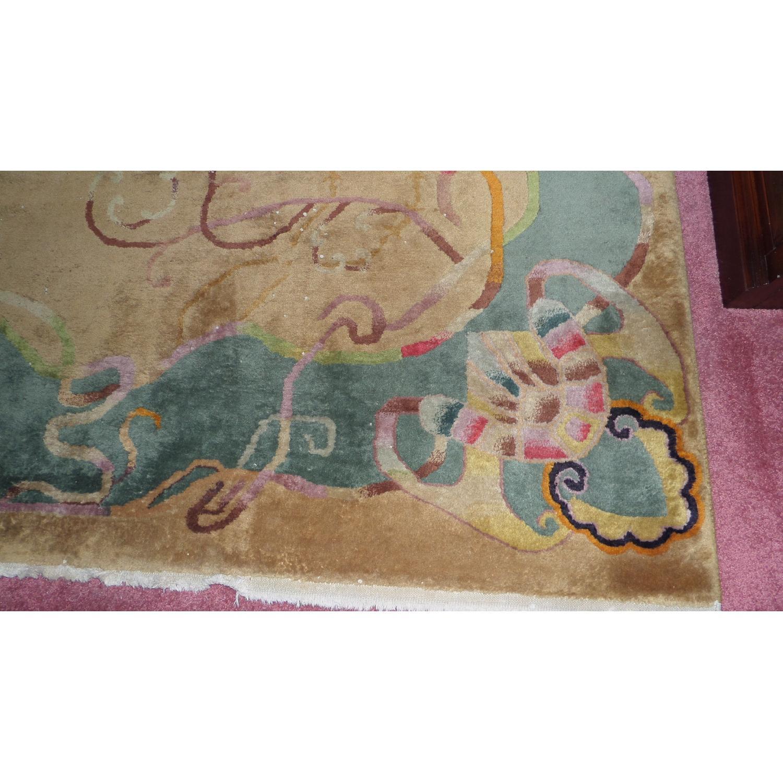 1930's Chinese Art Deco Wool Nichols Carpet - image-5