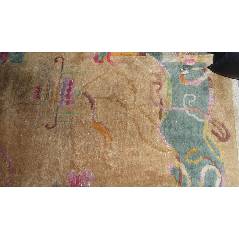 1930's Chinese Art Deco Wool Nichols Carpet - image-6