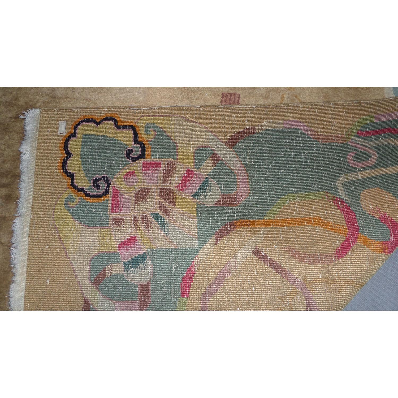 1930's Chinese Art Deco Wool Nichols Carpet - image-7