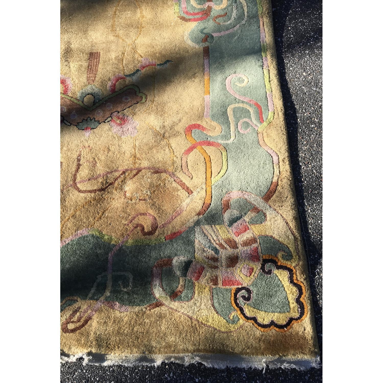 1930's Chinese Art Deco Wool Nichols Carpet - image-9