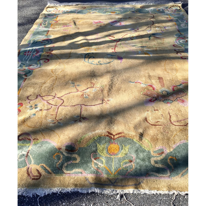 1930's Chinese Art Deco Wool Nichols Carpet - image-10
