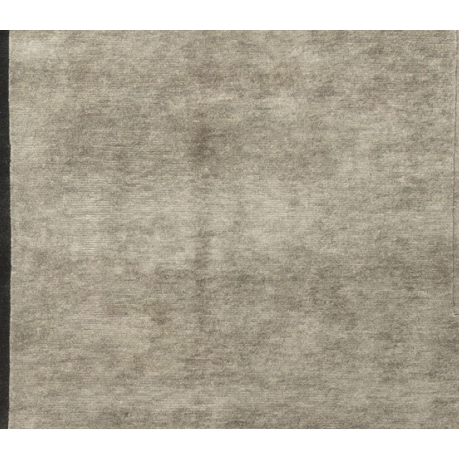 Modern Contemporary Hand Knotted Wool Rug in Black/Grey - image-2