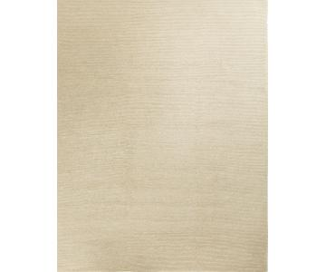 Modern Contemporary Hand Knotted Wool Rug in Beige