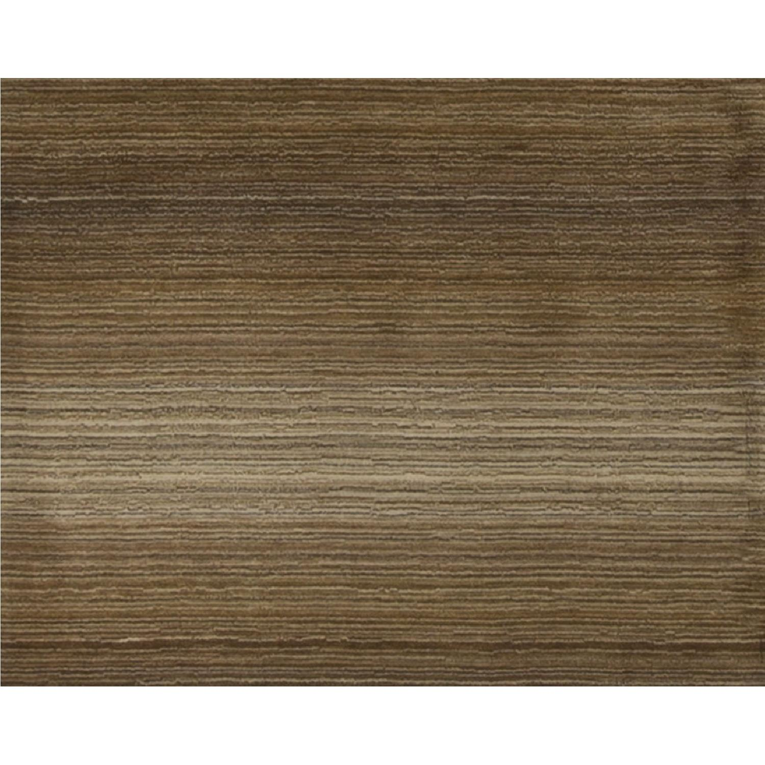Modern Contemporary Hand Knotted Wool Rug in Brown - image-3