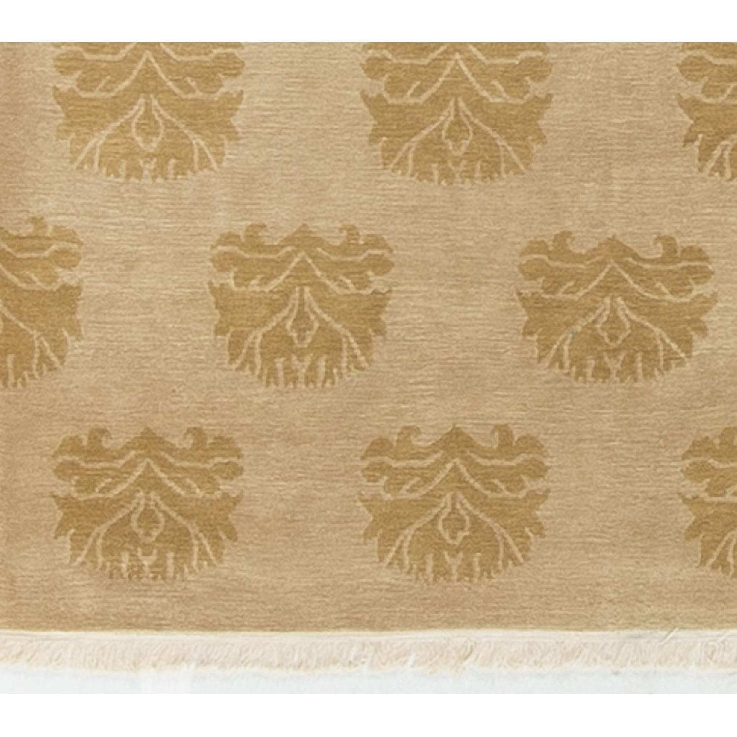 Modern Contemporary Hand Knotted Wool Rug in Beige - image-3