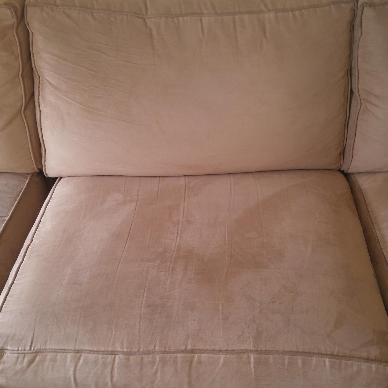 Crate & Barrel Sectional Sofa in Mushroom Color - image-3