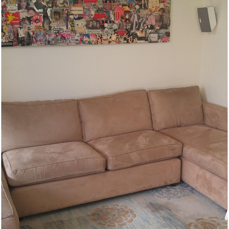 Crate & Barrel Sectional Sofa in Mushroom Color - image-6